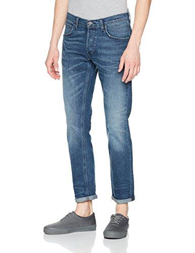 Lee Herren Straight Jeans Daren, Blau (Banshee Worn Dxag), W38/L34