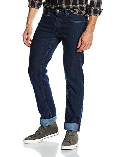 Lee Herren Straight Leg Jeanshose DAREN ZIP, Gr. W34/L32 (Herstellergröße: 34), Blau (DARK INDIGO 49)