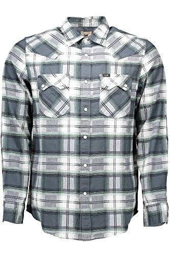 Lee Kent Regular Fit Shirt Herren Hemd Karohemd Grün L851DNMZ, Größenauswahl:L