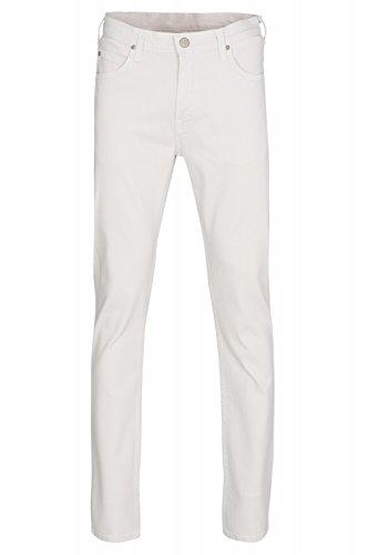 Lee Rider Regular Waist Hose Herren Jeans Freizeit-Hose Weiß im schlichten Look, Größenauswahl:W34/L32