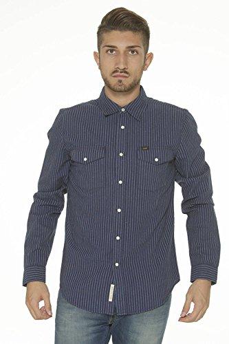Lee Western Shirt Medieval Hemd Herren Hemd Freizeithemd Blau L644PH13, Größenauswahl:S