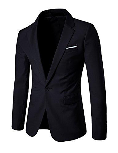 Letuwj Herren Casual Anzug Jacke slim fit XS Schwarz