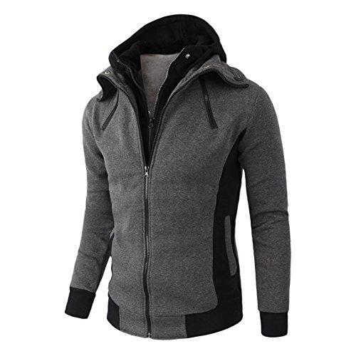 Libertepe Herren Jacke Hoodie Mantel Sweatjacke Entworfene Revers Kapuzenpullover Outerwear- Top Qualität und Tragekomfort