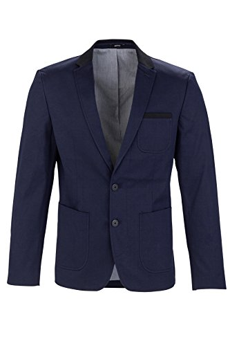 MEXX Herren Sakko Classic blazer with tailored twist, Gr. 46, Dunkel blau (Sky Captain 067)
