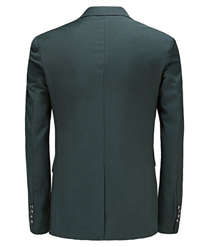 MOGU Herren Anzugjacke Grün Anzug Party Smoking Slim Fit Größe 54 (Asian Lable 5XL) Grün