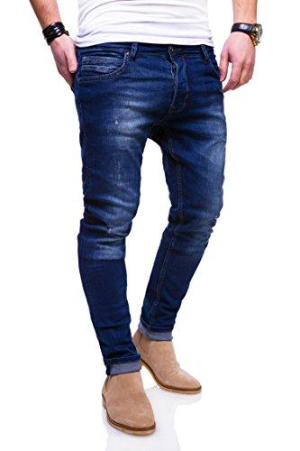 MT Styles Jeans Slim Fit Hose JN-3502 (Blau, W30/L30)