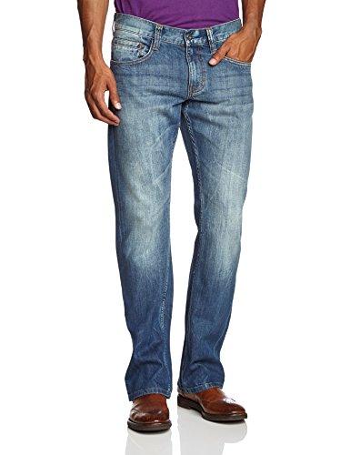 MUSTANG Herren Boot-Cut Jeans Oregon Boot, Gr. W33/L32, Blau (strong bleach 535)