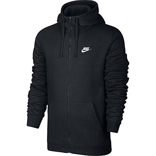 Nike Herren Unterjacke Kapuzenpullover Sweat Hoodie, Black/White, M