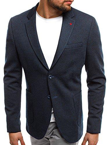 OZONEE Herren Sakko Business Anzugjacke Blazer Kurzmantel SIVIS PARIS 1702 M/50 SCHWARZ-BLAU