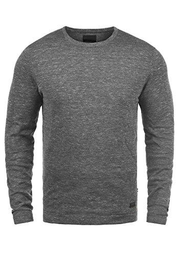 Produkt Primus Herren Strickpullover Feinstrick Pullover Mit Rundhals Und Melierung , Größe:M, Farbe:Grey Melange