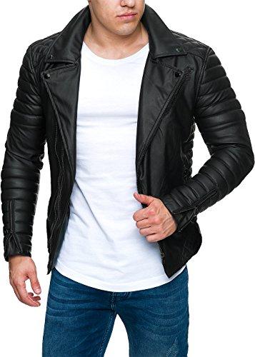 Reichstadt Herren Jacke -- RS001 black PU - black zipper XXL