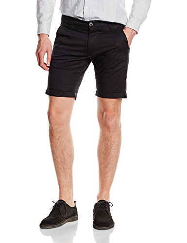 SELECTED HOMME Herren Chino Shorts, SHHPARIS BLACK ST SHORTS, Gr. M, Schwarz (Black)