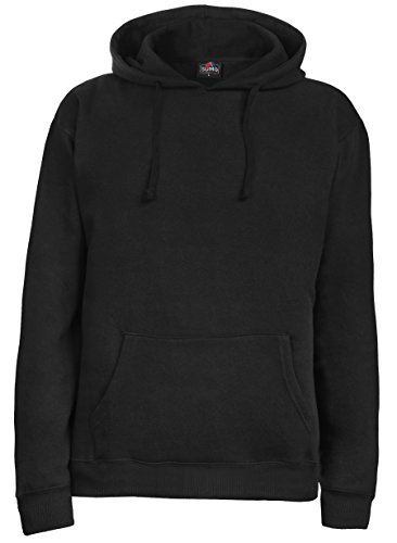 SUMG Kapuzenpullover Hoodie Kapuzen-Sweatshirt 'BASIC Hooded Pullover' (XXL, Schwarz)