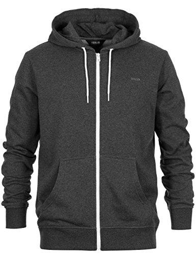 Solid-Kjelt, Kapuzenpullover, darkgrey, Gr. XL / Sweatshirt-Jacke / Herren Hoddie / Kapuzenjacke / Pulli mit Reißverschluß