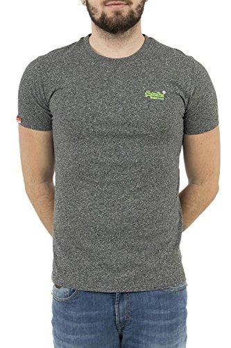 Superdry Herren Oberteile/T-Shirt Orange Label Schwarz XL