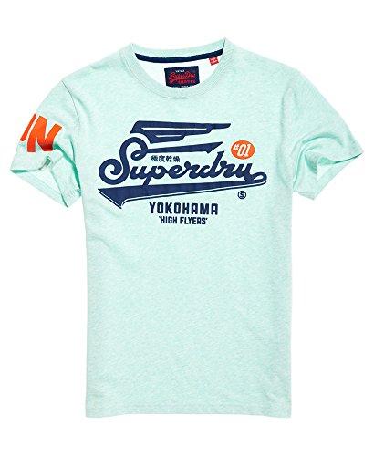 Superdry Herren T-Shirt Grün Green(Pastel Mint Marl) Medium Gr. L, Green(Pastel Mint Marl)