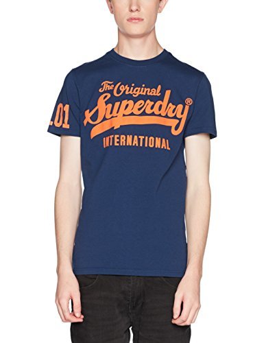 Superdry Herren T-Shirt M10001HP, Blu (Boston Blue), Medium