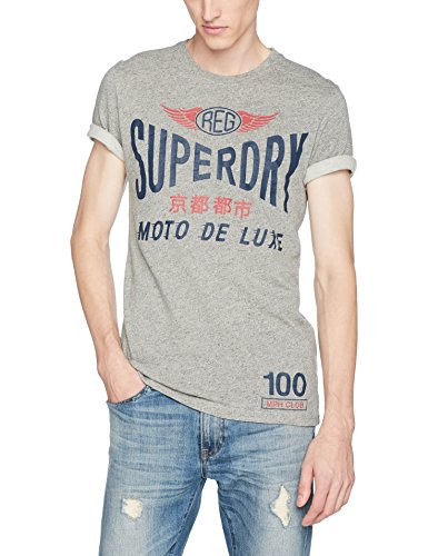 Superdry Herren T-Shirt M10001XP, Grigio (Track Charcoal Grindle), Small