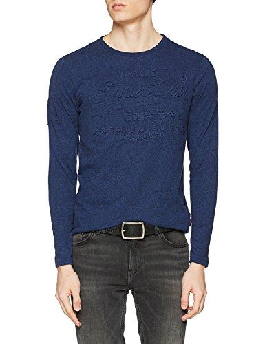 Superdry Herren T-Shirt M10003PP, Blu (Bright Navy Grit), Medium