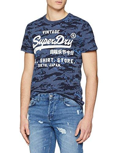 Superdry Herren T-Shirt M10006PP, Blu (Midnight Indigo), X-Large