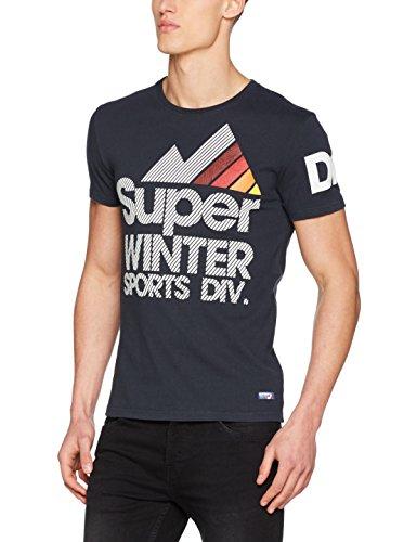 Superdry Herren T-Shirt M10024SP, Blu (Eclipse Navy), X-Large