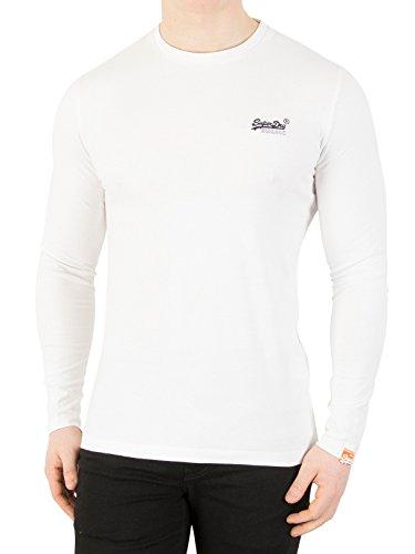Superdry Herren T-Shirt M60000NS, Bianco (Optic), Medium