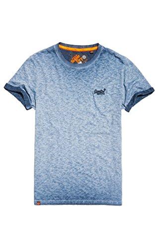 Superdry Herren T-Shirt Orange Label Low Roller Tee, Blu (Resort (RI Ve RI A) Navy), X-Large