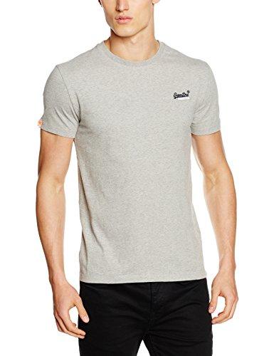 Superdry Herren T-Shirt Orange Label Vintage EMB Tee, Grau (Grey Marl07Q), S