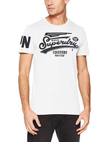 Superdry Herren T-Shirt Retro High Flyers Tee, Bianco (Optic), X-Large