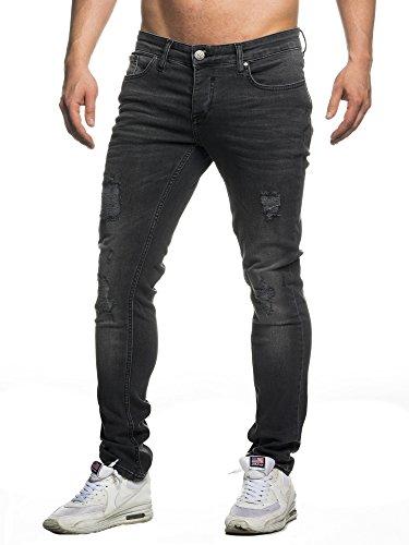 TAZZIO Slim Fit Herren Destroyed Look Stretch Jeans Hose Denim 16525 36/30