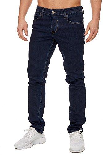 TAZZIO Slim Fit Herren Styler Look Stretch Jeans Hose Denim 16533 Dunkelblau 29/32