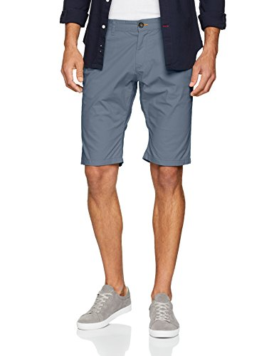 TOM TAILOR Herren Chino Short w Patched Pockets, Grau (Dove Grey 2218), 32 (Herstellergröße: 36)