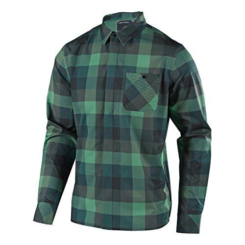 Troy Lee Designs Flannel-Langarmhemd Grind Grün Gr. L