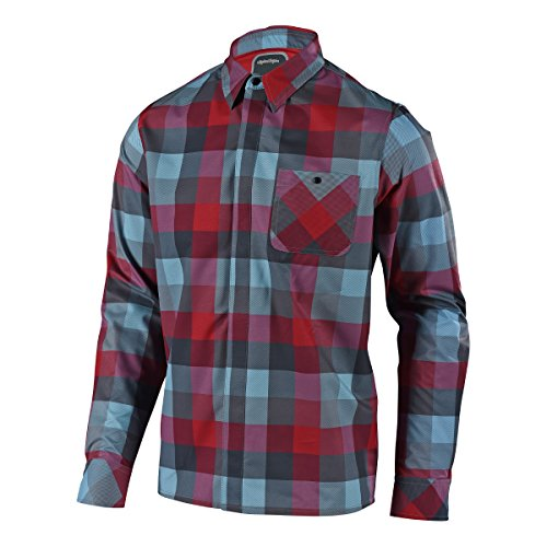Troy Lee Designs Flannel-Langarmhemd Grind Rot Gr. M