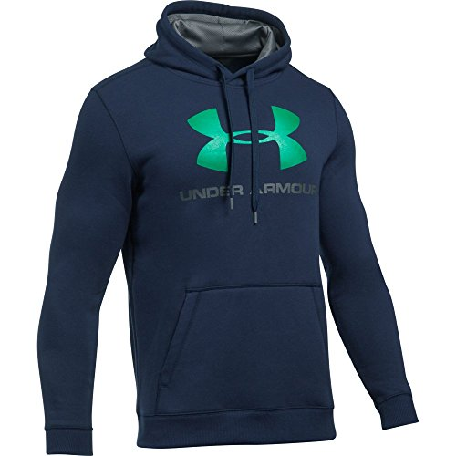 UNDAS:Under Armour Herren Rival Fitted Graphic Hoodie Oberteil, Midnight Navy, LG