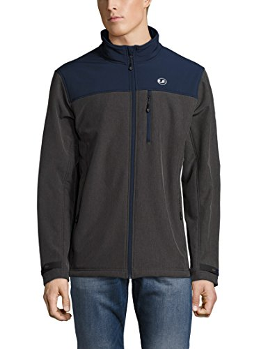 Ultrasport Herren Advanced Softshelljacke Tino mit Teddy-Fleece, grau melange/navy, M