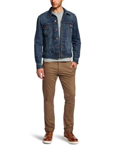 Wrangler Herren Jeans Jake W4481514V WESTERN DENIM JACKET, Gr. Medium, Blau (MID STONE)