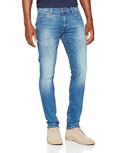 Wrangler Herren Straight Jeans Larston, Blau (Far Green 029), W30/L32