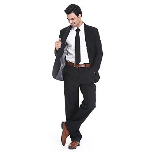 YOU LOOK UGLY TODAY Modisch Normaler Schnitt Herren Party Anzug Weihnachten Kostüme Festliche Anzüge Party Suits einheitliche Farbe -Schwarz/XL