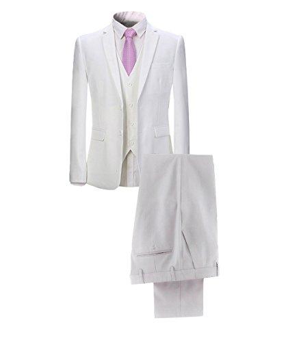 YOUTHUP Slim Fit 3 Teilig Business Hochzeit Herren Anzug Smoking