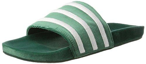 adidas Herren Adilette Dusch-& Badeschuhe, Grün (Collegiate Green/Footwear White/Footwear White), 42 EU