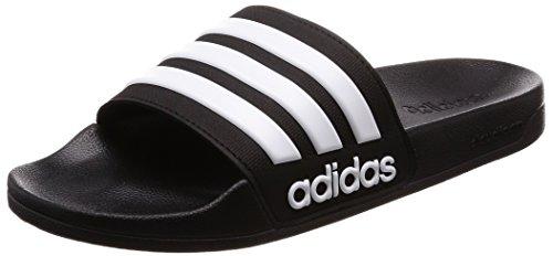 adidas Herren Cloudfoam Adilette Dusch-& Badeschuhe, Schwarz (Negbas/ftwbla/Negbas), 40.5 EU (7 UK)