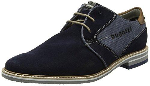 Bugatti Herren 311447011400 Derbys, Blau (Dark Blue), 46 EU