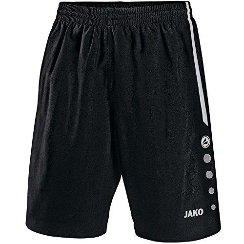 Jako Herren Fußball Sporthose Turin, Schwarz/Weiß, L, 4462