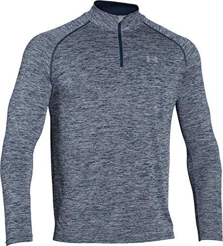 Under Armour Herren Fitness Sweatshirt UA Tech 1/4 Zip, Blau Midnight Navy Heather, XL, 1242220-411