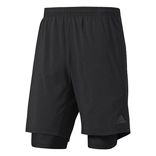 "adidas Herren Supernova Dual Shorts, Black, M 7"""