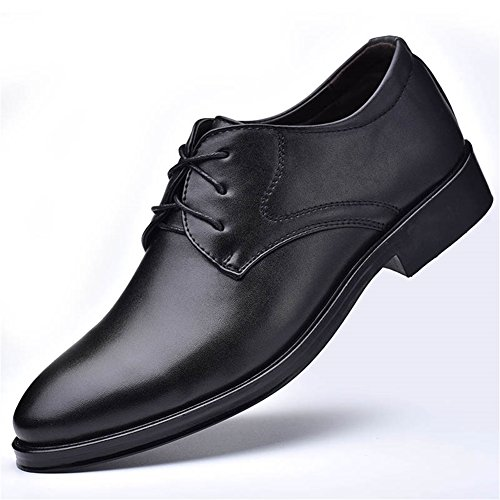 Herren Leder Schuh Frühjahr Sommer Loafers Driving Schuhe Schnürschuhe Oxfords beiläufige Breathable Comfort Party & Abend Formale Business-Arbeit (Farbe : B, Größe : 44)