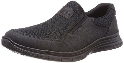Rieker Herren B4873 Slip on Sneaker, Schwarz (Schwarz/Schwarz/Schwarz), 41 EU