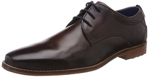 Bugatti Herren 312418011100 Derbys, Braun (Dark Brown), 40 EU