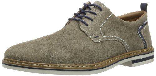 Rieker B1421 Lace-Up-Men, Herren Derby Schnürhalbschuhe, Grau (dunst/royal/42), 43 EU